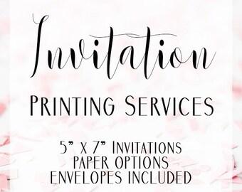 Invitation Printing Service, Invitation Printing, Printing Service, Printing Add on