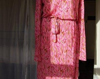 Vintage 1970s Diane von Furstenburg silk rayon dress