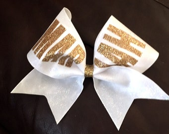 Glitter Name Bow Custom