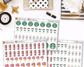 Jamba Juice Starbucks Planner Stickers (Oopsies)