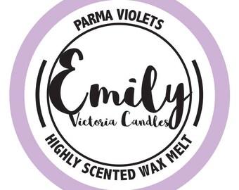 Parma Violets Highly Scented Wax Melt Long Lasting Candle, Tart, Melt
