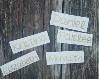 Yeti Decal, Name Decal, Yeti Sticker, Tumbler Sticker, Name Sticker, Vinyl Name Decal, Name Decal for Yeti, Name Sticker