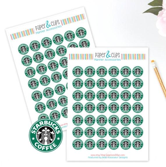 Calendar Planner Reminder Stickers : Starbucks reminder stickers planner