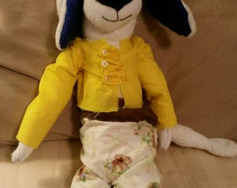 Handmade stuffed Easter beagle