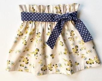 Girl's Skirt, High Waisted Skirt, Toddler Skirt, Baby Skirt, Vintage Style Skirt, Spring Skirt, Easter Outfit, Winter, Sister Set, Custom
