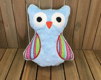 Owl Stuffed Animal, Owl Plushie, Owl Stuffed Toy, Fabric Toy, Cute Baby Gift