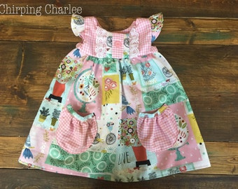 Flutter Dress with Pockets | 6/12m to 8y