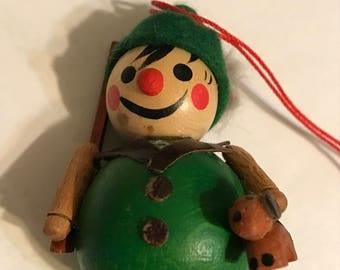Steinbach wooden hunter Christmas  ornament