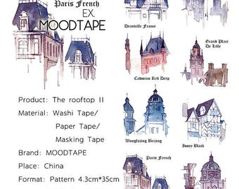 House Washi Tape The rooftop 2,scrapbooking stickers,DiY,Paper Decorative masking Tape