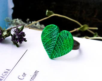 Forest heart- Forest-nature-magic-fairies-tree-moss-jewelry handmade-green