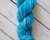 Turquoise - Fingering Sock with Stellina Hand Dyed Yarn