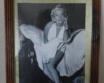 Marilyn Monroe enhanced framed picture