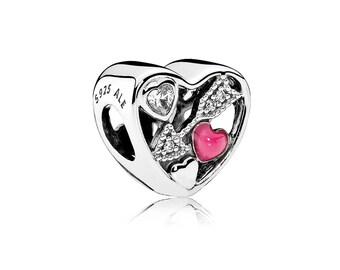 Authentic PANDORA Love Struck Charm Heart Shaped with Arrow