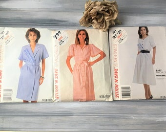 Set of 3 Vintage Womans Clothing Patterns - McCalls Pattern 4847 / McCalls Pattern 9512 / McCalls Pattern 3638 / Vintage Sewing Pattern
