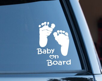 Baby On Board Car Decal, Baby On Board, Baby Car Decal, Mom Car Decal, Mommy Decal,  Mom Decal, Future Mother Decal, Baby Shower Gift