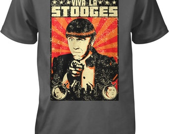 Viva La Stooges, Three Stooges Men's T-shirt, NOFO_00435