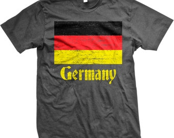 Flag of Germany, German Flag, German Stolz Men's T-shirt, NOFO_00044