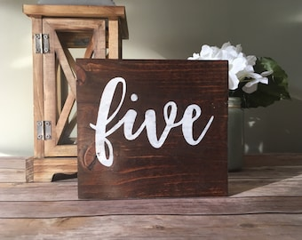 Wedding Table Numbers Rustic centerpieces deco Spring Summer wedding feast decor wedding stuff Theme Calligraphy Hand Painted by Numbers