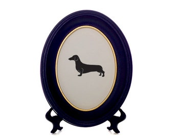 Dachshund / Sausage Dog Bespoke Framed Paper Cut-Out Silhouette - Custom Design Available