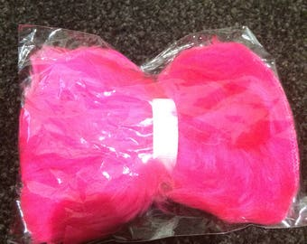 Pink fluffy bow