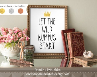 WHERE THE WILD Things Are, Nursery Wall Art, printable wall art, wall art prints, wall art printables, art prints, wall prints, quote prints