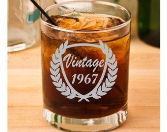 50th Birthday, 40th Birthday, 30th Birthday, 60th Birthday, Birthday Rocks Glass, Birthday for Him, Birthday for Her, Birthday Whisky Glass