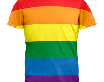LGBT Rainbow Gay Pride All Over Adult T-Shirt