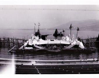 Vintage 60s Mid Century Black & White Photo Snapshot Bregenz, Austria Festival Bregenzer Festspiele Opera Stage