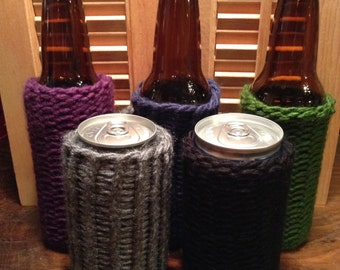Knitted Beer Can or Bottle Sweater