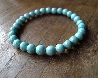 6mm Turquoise stone bracelets