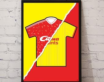 Liverpool 89-91 Home x 85-87 'Double Winners' Away Print