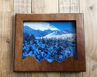 8x10 Wooden Mountain Frame