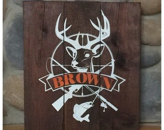Hunting and Fishing Personalized sign, Fishing Sign, Hunting Sign, Personalized Christmas Gift