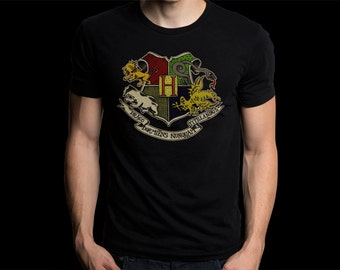 New Gildan T-Shirt Harry Potter Spin-Off Fantastic Beasts and Where to Find Them Logo Tee Size S-XXL For Man's