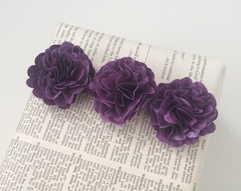 Small Purple Flowers, book page flowers, embellishment, anniversary, romantic engagement