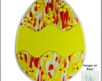 Wall Art - Fused Glass Easter Egg