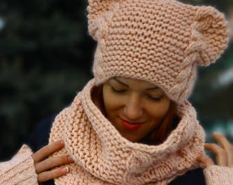 KNITTING PATTERN -Pattern hats - knitting hat - hat - pattern cowl (Toddler, Child, and Adult sizes) knitting hat, women knitting hat, knit