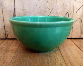Ceramic mixing bowl made in Medicine Hat Alberta Canada, vintage cookware