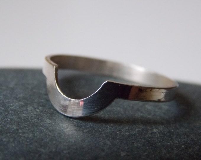Silver ring. Silver fine ring in a half round form. for woman