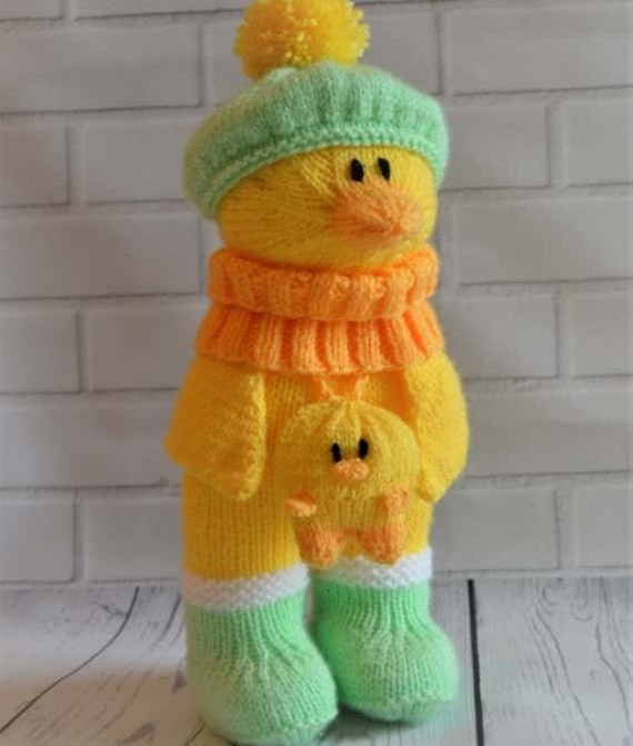 Knitting Pattern Duck Toy : Duck In Boots Knitting Pattern, Duck Knitting Pattern, Duck Knit Pattern, Toy...