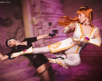 Kasumi Dead or Alive cosplay costume video game dress shoes crown princess Halloween