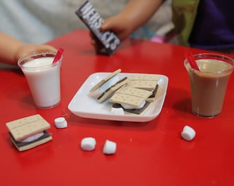 "S'mores! 18 inch doll accessories  PLAY FOOD/DRINK. For American Girl Dolls or other 18"" dolls"