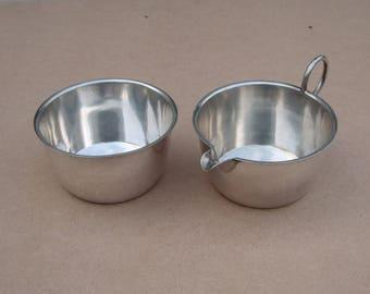 Milk Jug + Sugar Bowl Set - Silver Plated/EPNS - Vintage/Antique - Martin Hall & Co - Vintage Silverplate