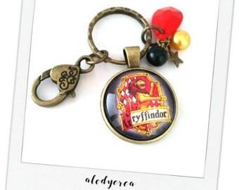 Keychain Gryffindor - harry potter - cachochon - bronze