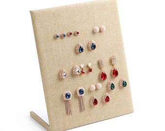 linen earring display | earring display stand| earring display board| earring rack