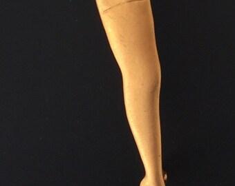 Unique Vintage Leg With Garter Brooch.