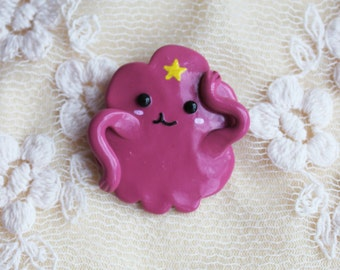 Adventure Time brooch Adventure time pin Cartoon pin Lumpy Space Princess pin Lumpy Space Princess brooch Cartoon princess Christmas gift
