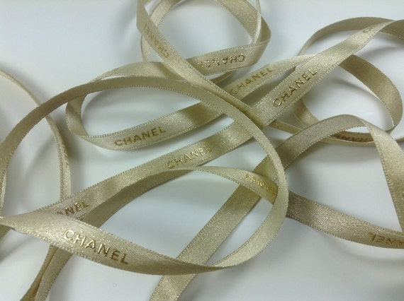 4x meters Authentic Chanel fabric ribbon, width 10mm