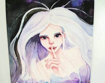 Silent Night original watercolor