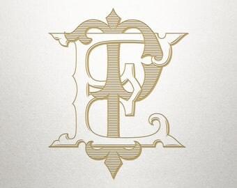Wedding Logo Design - EP PE - Wedding Logo - Digital